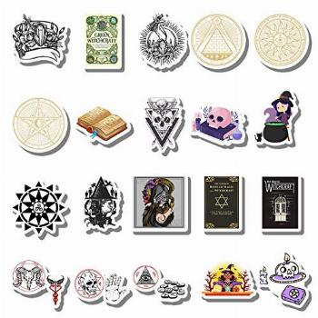 20 PCS Stickers Pack Witchcraft Aesthetic Vinyl Colorful