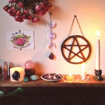 a witch's altar