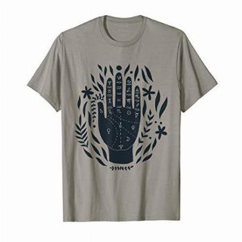 Astronomy Hand Mystical Witchcraft Aesthetic Top Zodiac Tee