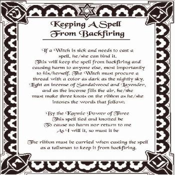 Keeping a Spell from Backfiring – Free Printable Spell Page – Witches Of The Craft®