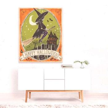 Moon Wall Art, Moon Art Print, Witch Decor, Witch Print, Witch Wall Art, Witchcraft Print, Bat Art,