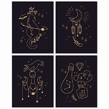 Mystical Witchcraft Prints - Set of 4 (8x10 Inches) Glossy