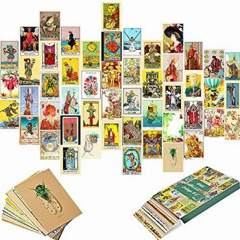 Retro Wall Collage Kit Aesthetic Pictures, 50PCS Tarot Room