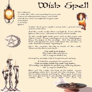Simple WISH SPELL for Wicca Witchcraft Book of Shadows on Parchment   eBay