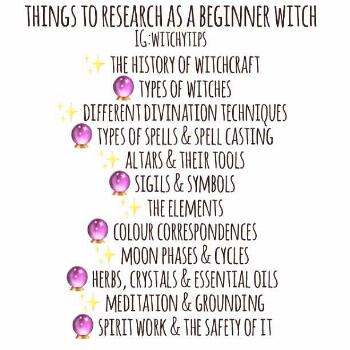 Things to research as a beginner witch ... - Religion:  Wicca/Spiritualist -