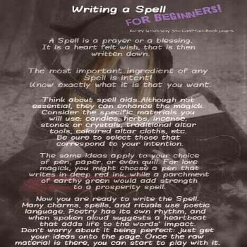 This is a spell book for anyone's use but please do not use it for bad. It will have info on wicca