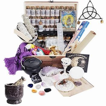 UnaLunaMoona Witchcraft Kit 111 Wiccan Supplies and Tools,
