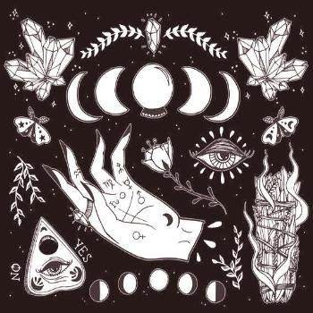 Witchcraft Art print. So many details in this illustration & so many symbols! This illustration inc