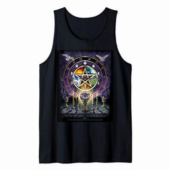 Witches Magical Altar Pentagram Witchcraft Pagan Wicca Tank