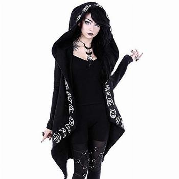 Women Moon Gothic Witchcraft Punk Vintage Casual Long