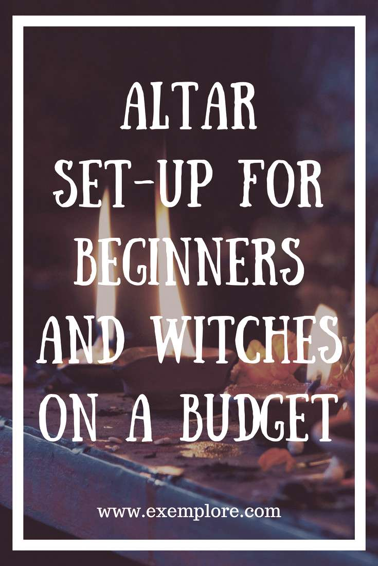 Altar set-up for beginners and witches on a budget. Witchcraft. Wicca. Paganism.