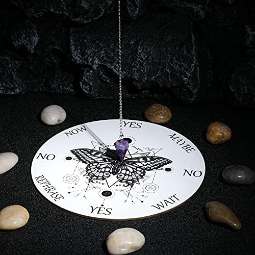 Butterfly Pendulum Board dowsing Necklace Divination Altar