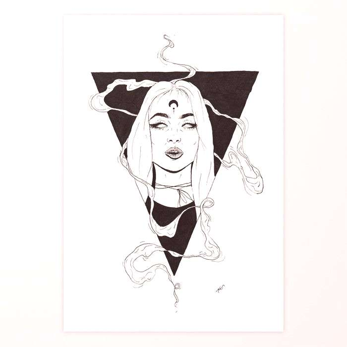 Buy Witchcraft Art Print by kstamperart. Worldwide shipping available at . Just one of millions of