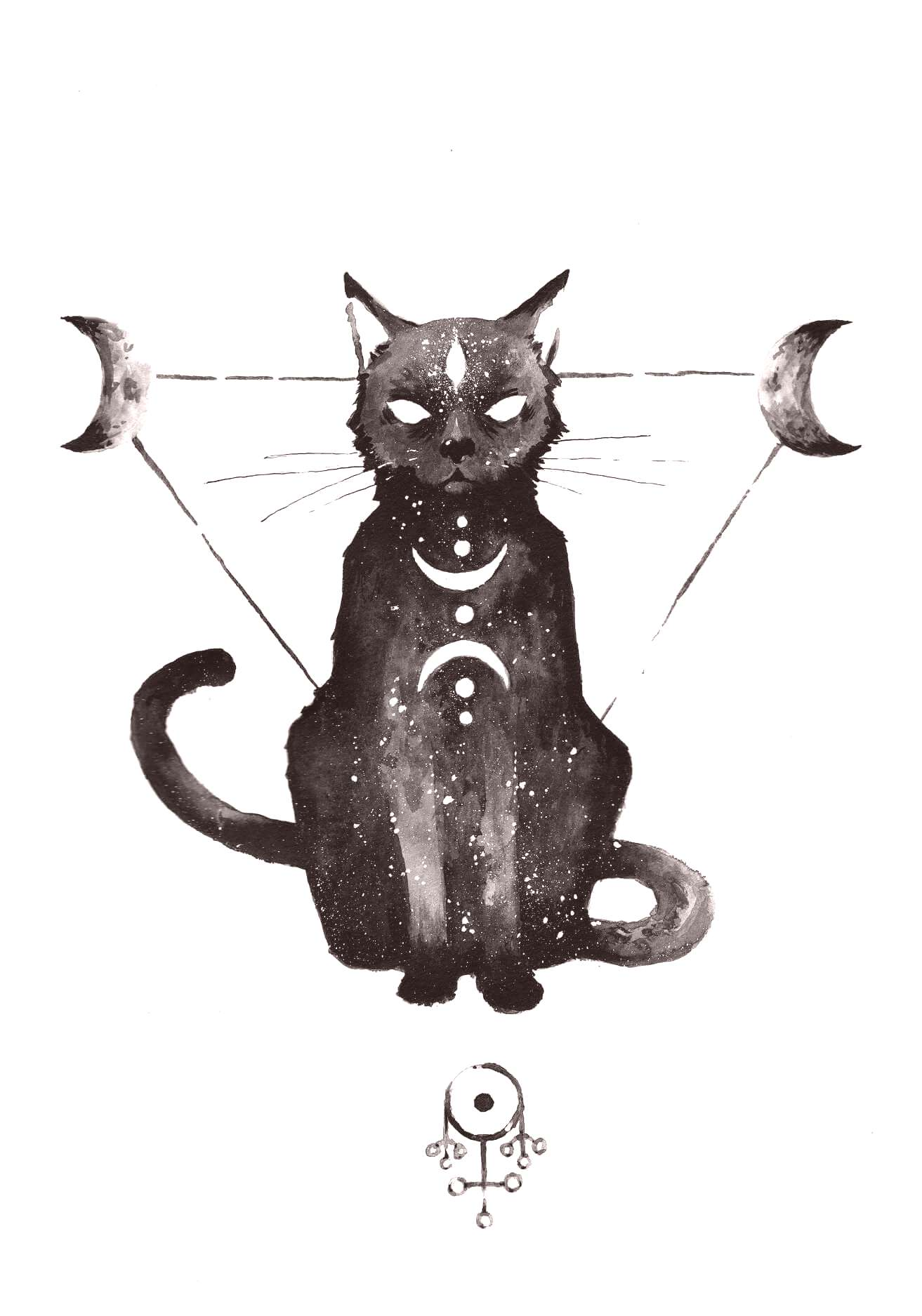 I could see myself getting this tattoo when Momo passes. Fluffier tail and ruff though.