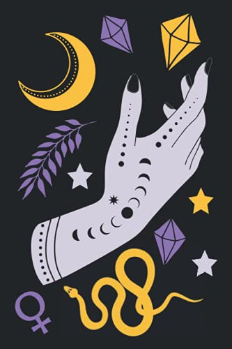 ITS A RIOT! ART Witchy Notebook   Modern Witch Symbols Dot