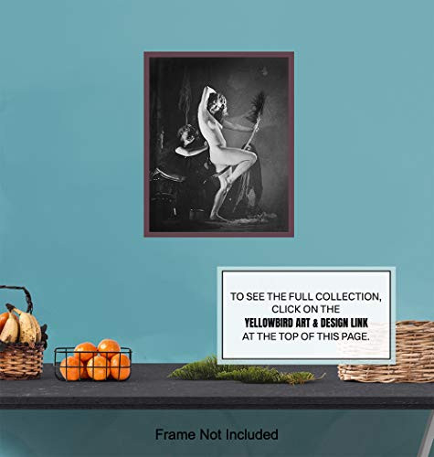 Nude Naked Sexy Witch Decor - Wicca Wiccan Decor -