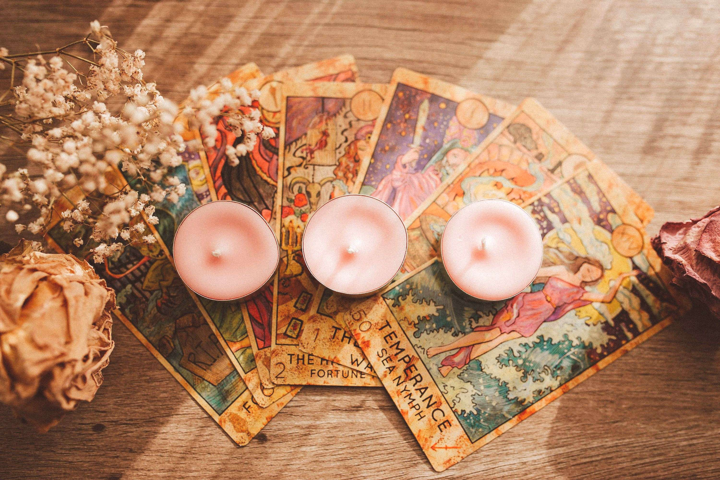 Pink Wiccan Spell Candles - Unscented Tealights for Witchcraft Altar and Ritual - Candle Spell for