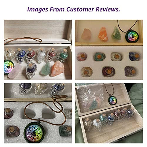 Soulnioi 11 Pcs/Set Witchcraft Supplies, Healing Crystals