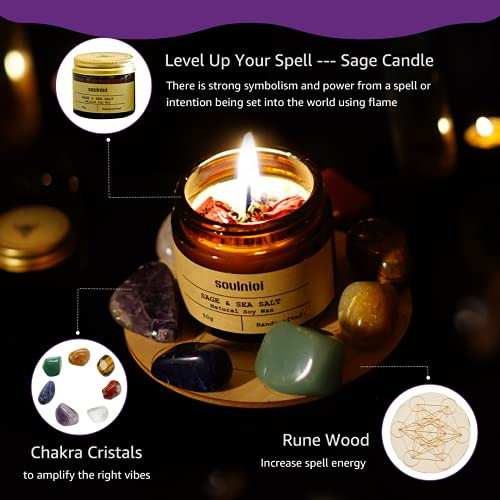 Soulnioi Witchcraft kit for Wiccan Supplies and Tools | sage