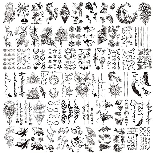 Temporary Tattoo, 60 Sheets Fake Tattoos That Look Real for