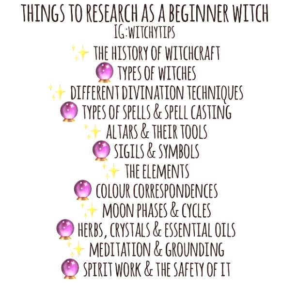 Things to research as a beginner witch ... - Religion Wicca/Spiritualist -