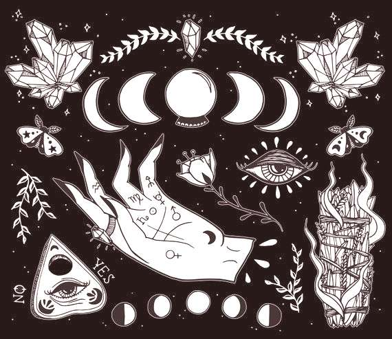 Witchcraft Art print. So many details in this illustration amp so many symbols! This illustration inc