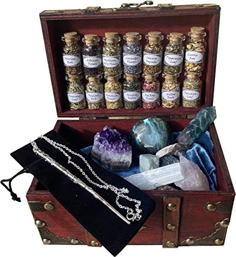 Witchcraft Kit Wiccan Altar Supplies and Tools Crystal herb