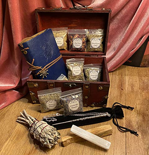Witchcraft Starter Kit for Beginners w Book of Shadows Spell