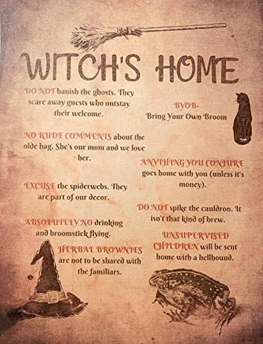 Witchs Home Rules Art for Pagan Wiccan Witchcraft Hoodoo